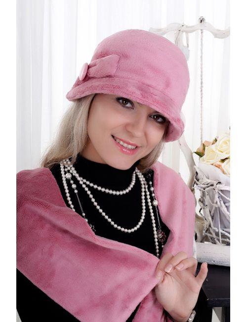 Loricci   Женский Розовый Комплект Шляпка И Шарф