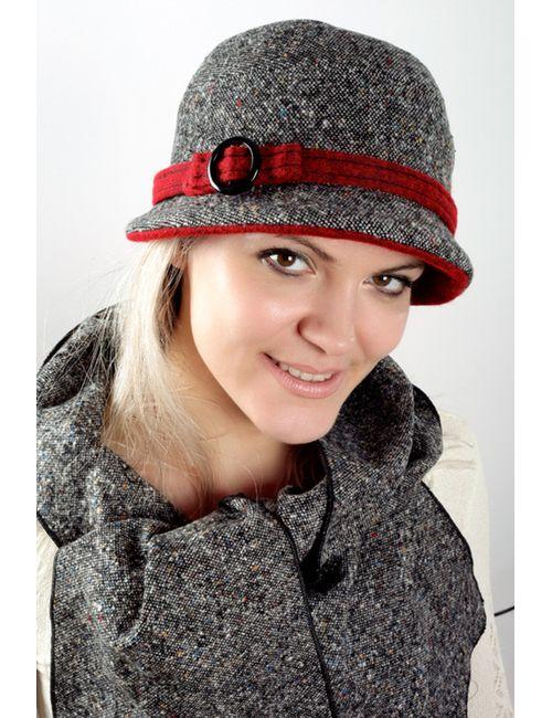 Loricci | Женская Красная Шляпка С Шарфом
