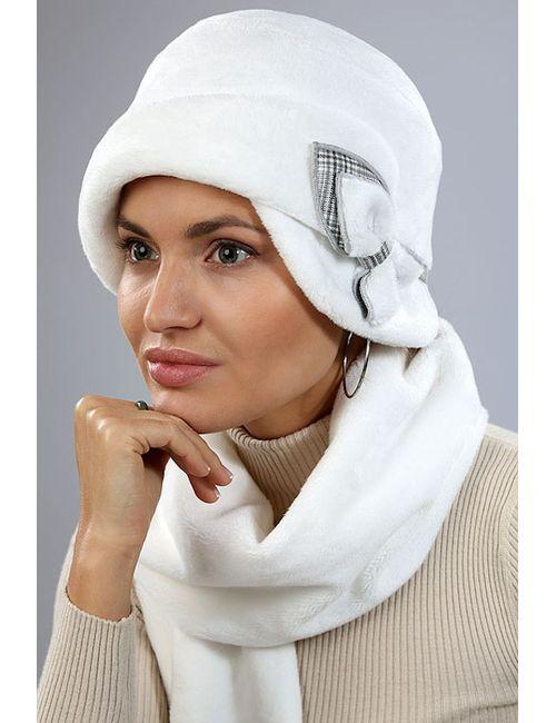 Loricci | Женский Белый Комплект Шляпка И Шарф