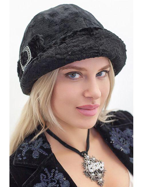 Loricci | Женский Чёрный Комплект Шляпка И Шарф
