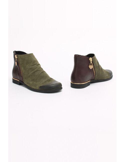 SM SHOESMARKET | Женские Зелёные Ботинки