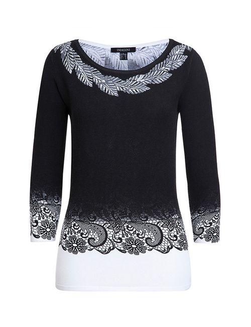 IMAGINI | Женский Белый Пуловер