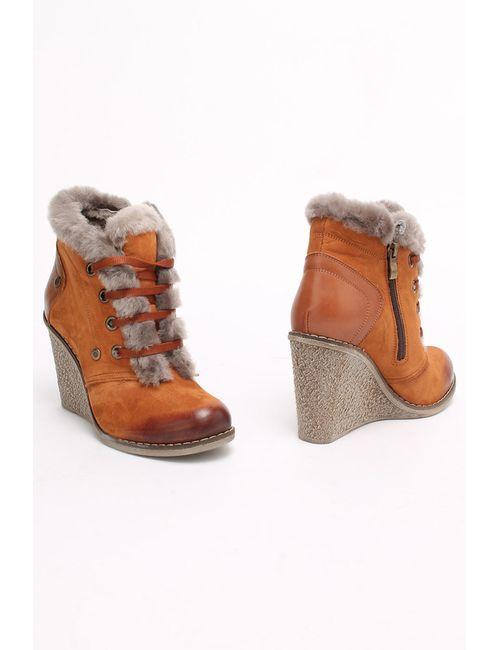 SM SHOESMARKET | Женские Оранжевые Ботинки