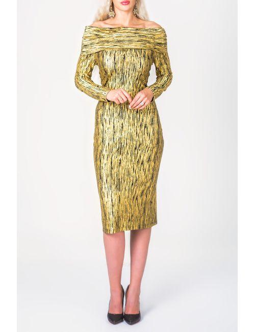 PF   Женское Золотое Платье