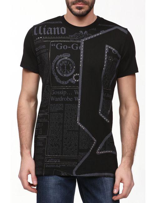 Galliano | Мужская Чёрная Футболка Джерси