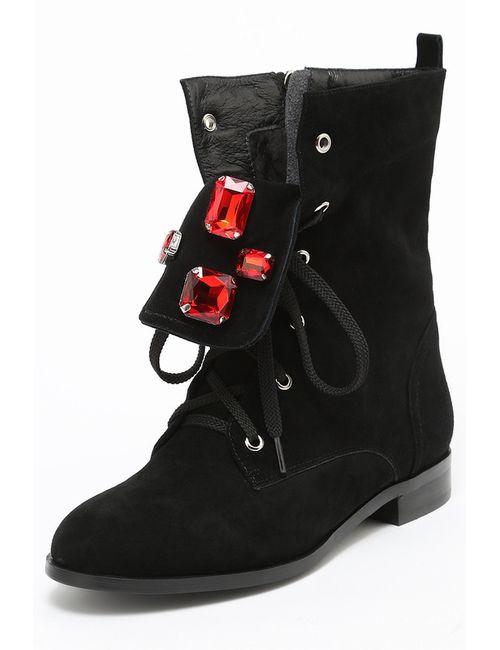 Riccorona | Женские Чёрные Ботинки