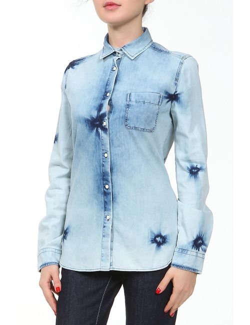 Lacoste | Женская Голуба Рубашка