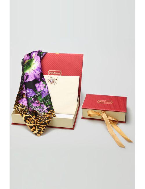 Venuse | Женский Многоцветный Платок Брошь-Кулон