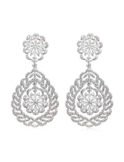 Цирконы - ZrO2 jewells | Женские Белые Серьги