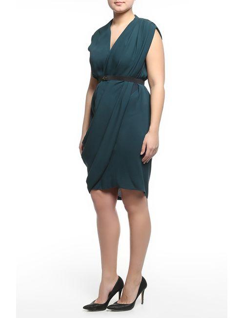 Lanvin | Женское Синее Платье С Поясом