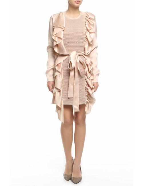 Vionnet | Женское Розовое Платье С Поясом