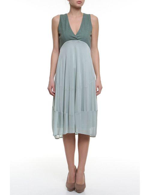 Donna Karan | Женское Зелёное Платье