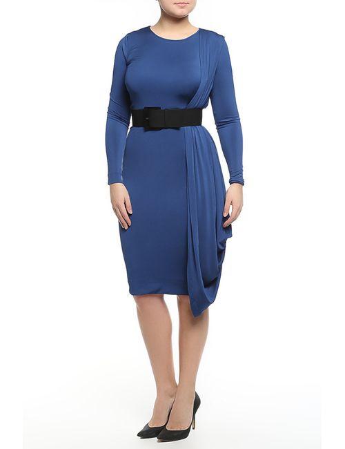 Donna Karan | Женское Голубое Платье С Ремнем