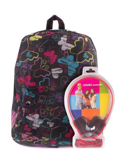 3D BAGS | Женский Многоцветный Рюкзак Радужные Бабочки