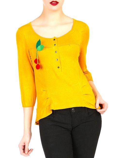 MAMATAYOE | Женская Жёлтая Блузка