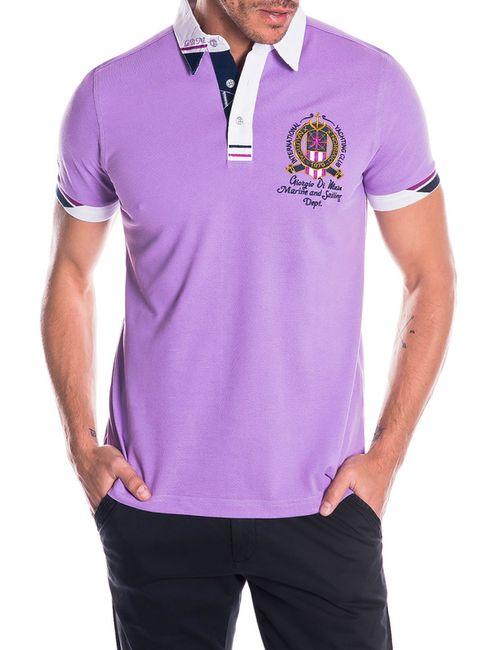 Giorgio Di Mare | Мужская Фиолетовая Футболка-Поло