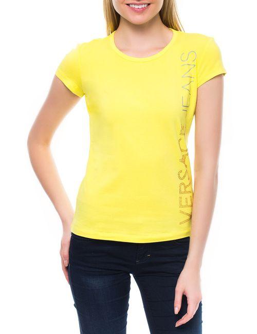 Versace Jeans Couture | Женская Жёлтая Футболка