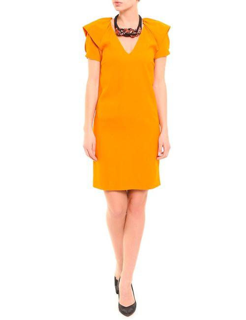 Normaluisa | Женское Оранжевое Платье