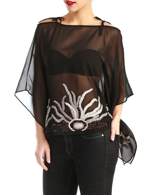 D&P   Женская Чёрная Блузка