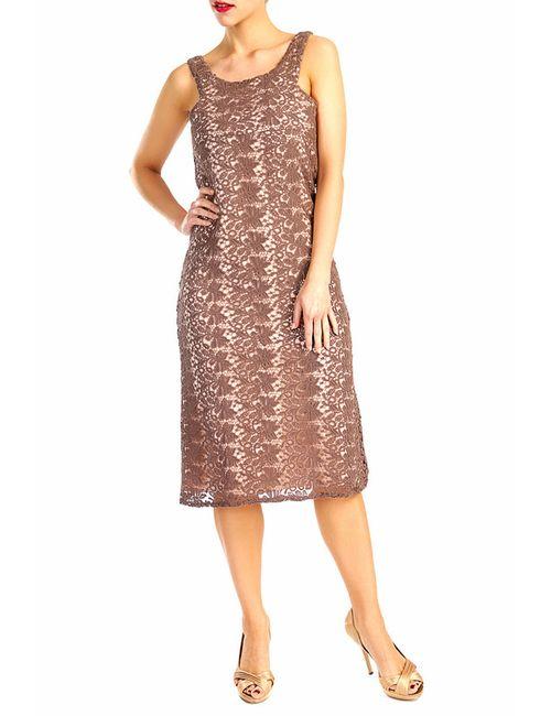 D&P | Женское Коричневое Платье