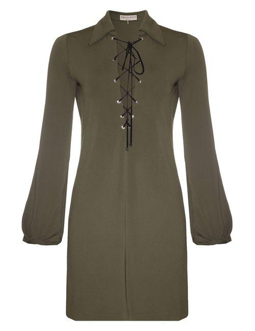 Pucci | Женское Зелёное Платье