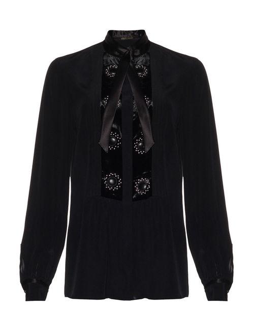 ROBERTO CAVALLI CRUISE | Женская Чёрная Блуза