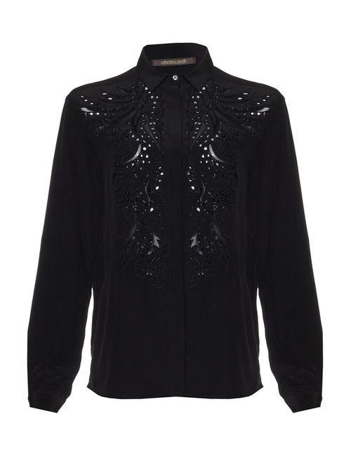 Roberto Cavalli | Женская Чёрная Блуза