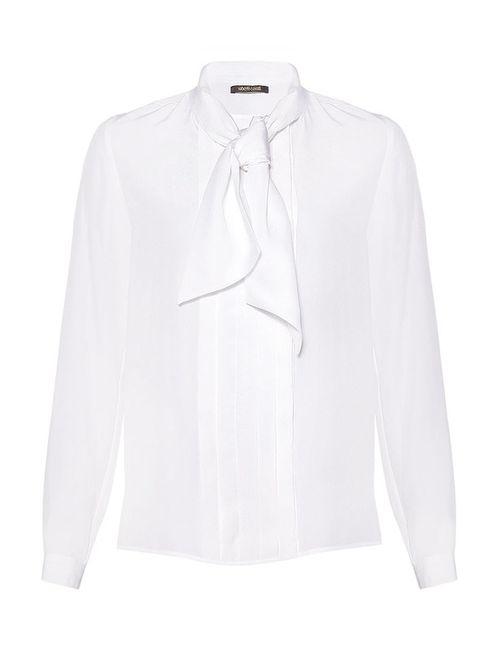 ROBERTO CAVALLI CRUISE | Женская Белая Блуза