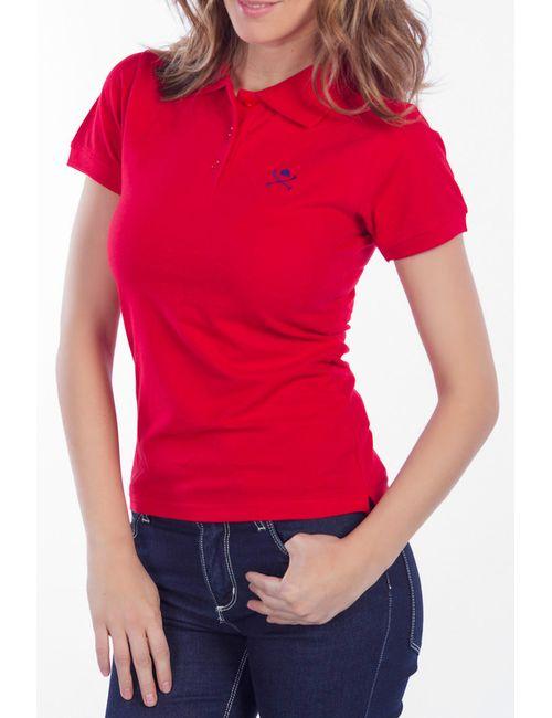 POLO CLUB С.H.A. | Женская Красная Футболка-Поло