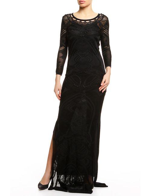 Roberto Cavalli | Женское Чёрное Платье 2 Предмета