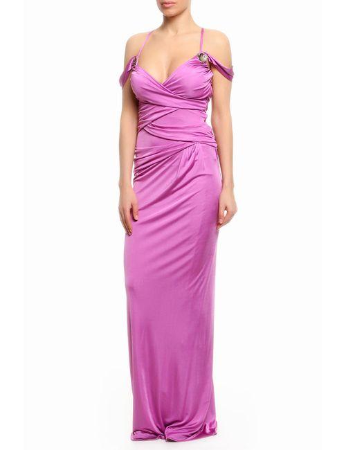 Roberto Cavalli | Женское Розовое Платье Вечернее