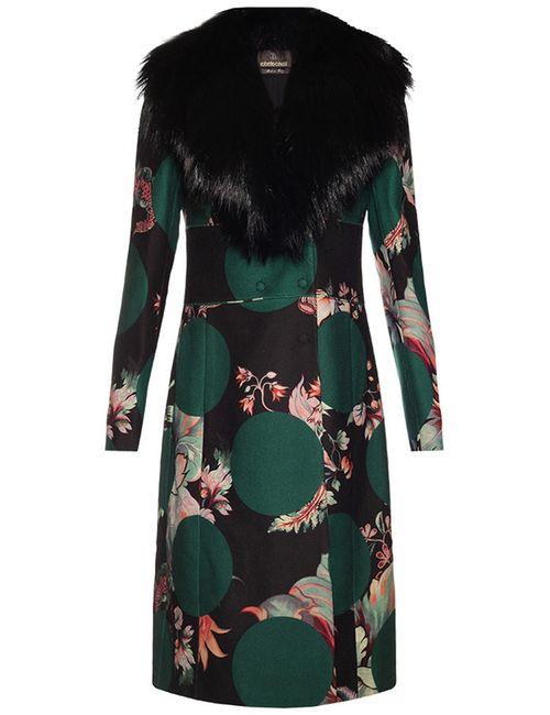 Roberto Cavalli | Женское Зелёное Пальто