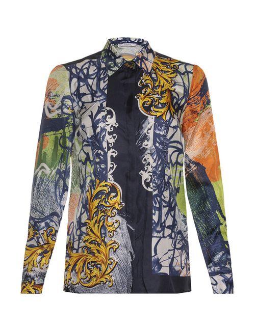 Versace Collection | Женская Синяя Блуза