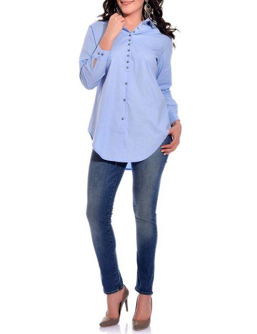 VALERIA FRATTA | Женская Синяя Рубашка