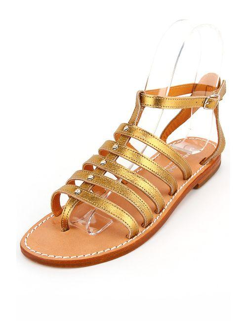 Cote Mer | Женские Золотые Сандалии