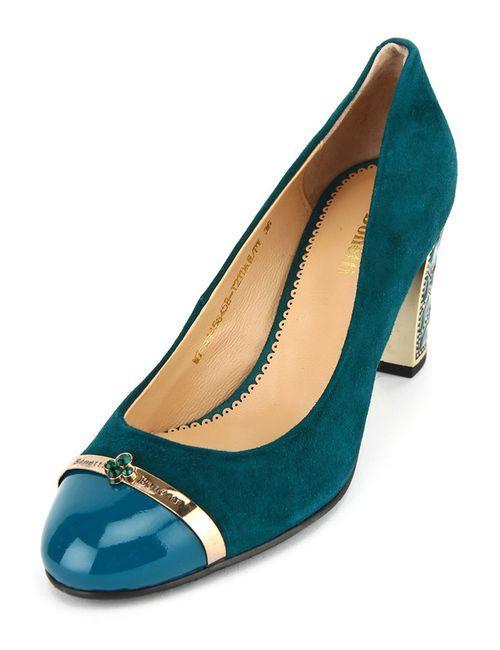 Benetti | Женские Зелёные Туфли