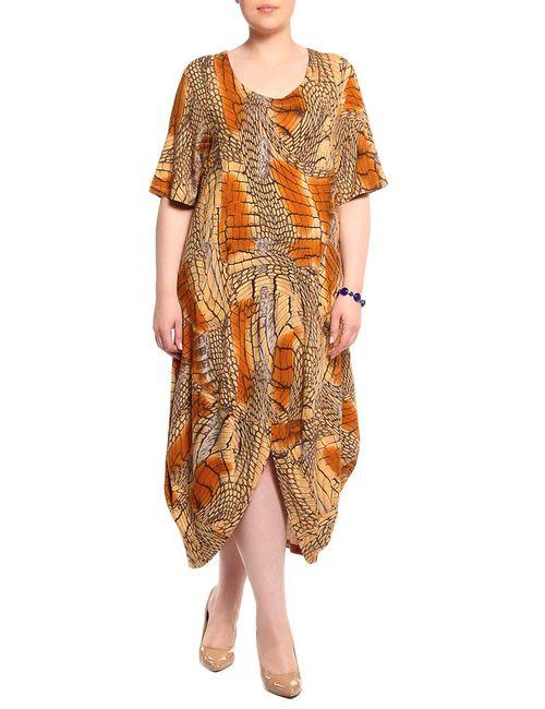 Мадам Т | Женское Коричневое Платье Мадам Т