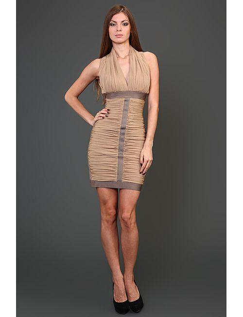 Herve' L. Leroux | Женское Многоцветное Платье Вечернее