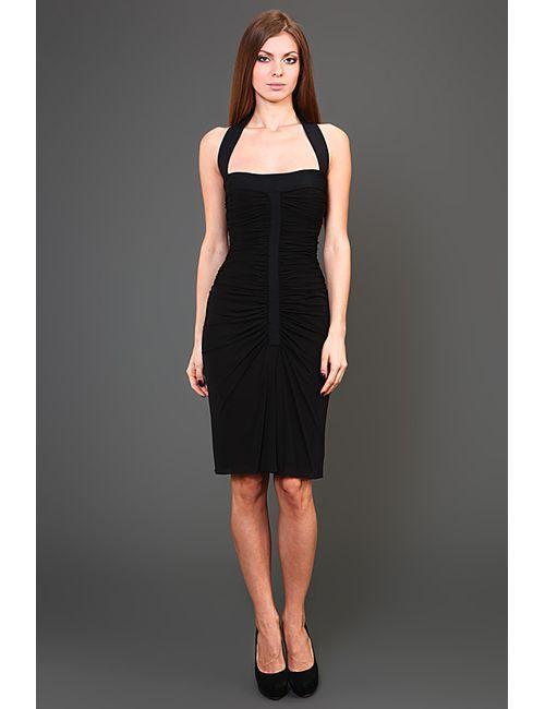Herve' L. Leroux   Женское Чёрное Платье Вечернее