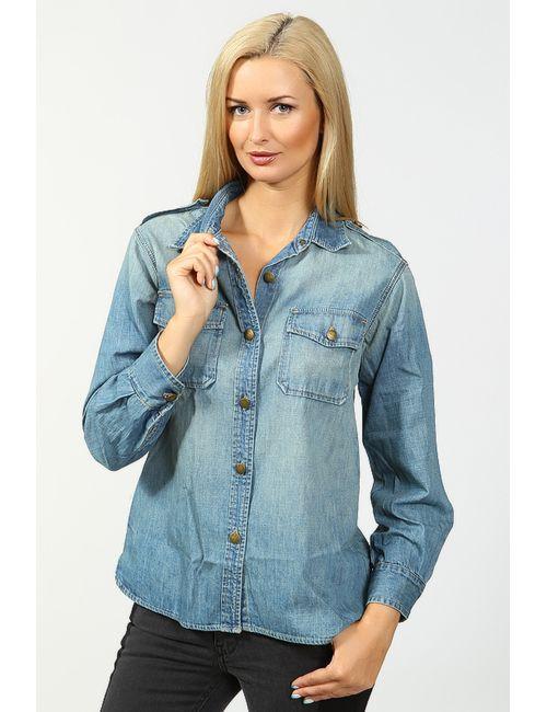 Current/Elliott | Женская Голуба Рубашка Джинсовая