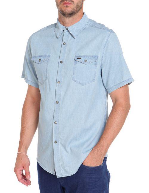 Montana | Мужская Голуба Рубашка
