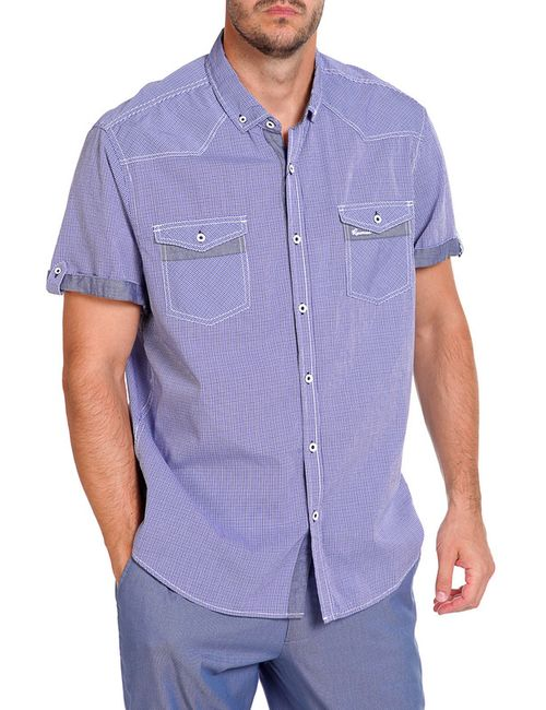Reserved | Мужская Синяя Рубашка