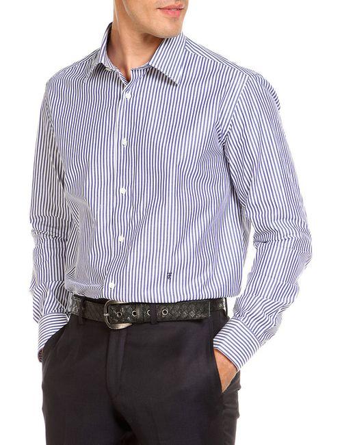 Trussardi | Мужская Синяя Рубашка