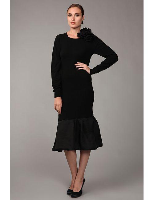 Lanvin | Женское Чёрное Платье Джерси