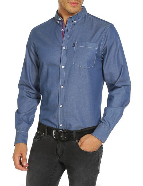 LE SHARK | Мужская Синяя Рубашка