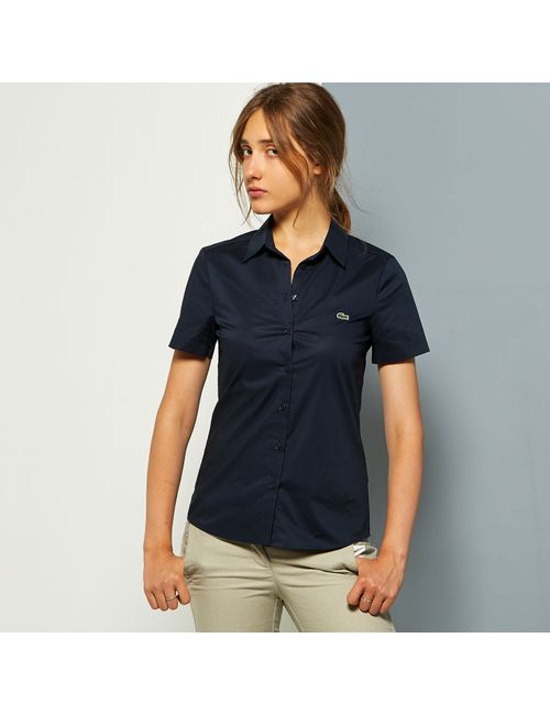Lacoste | Женская Синяя Рубашка