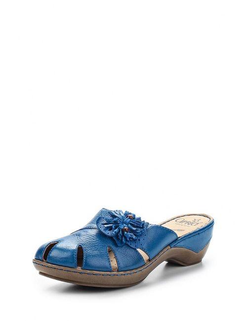 Caprice | Женское Голубое Сабо