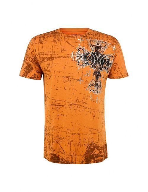 Affliction | Мужская Оранжевая Футболка