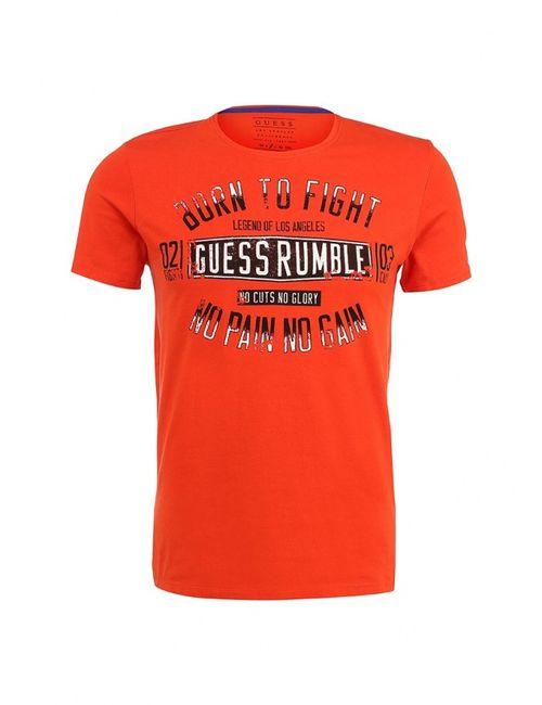 Guess | Мужская Оранжевая Футболка