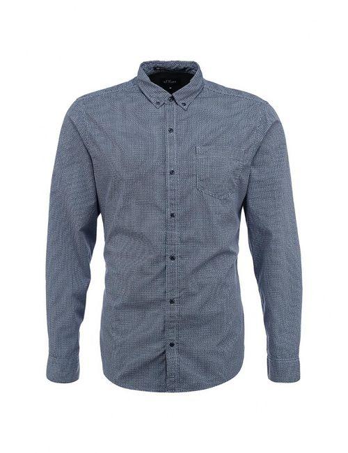 s.Oliver Denim | Мужская Синяя Рубашка